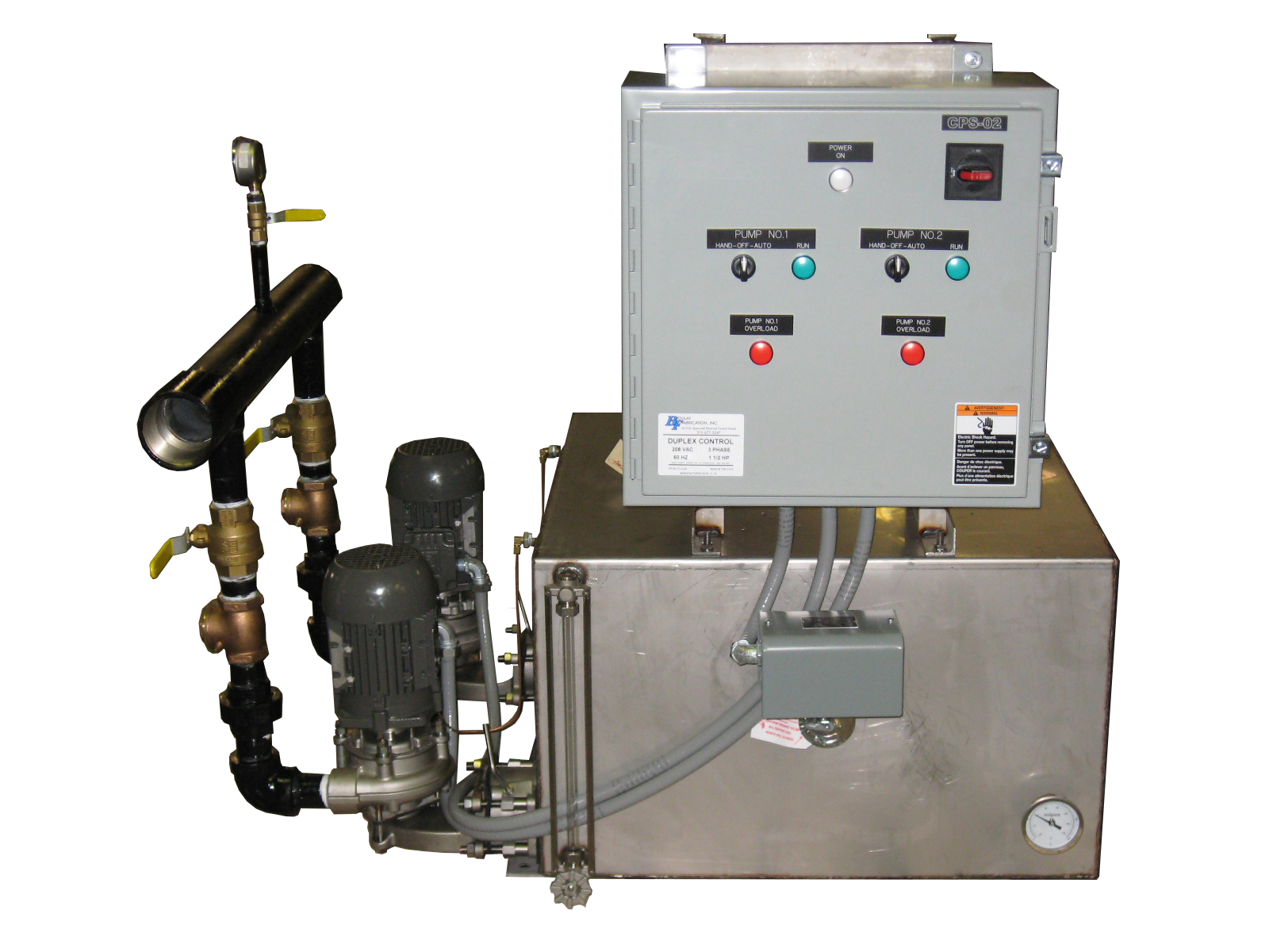 Duplex Condensate w Discharge Header & Rotated Panel